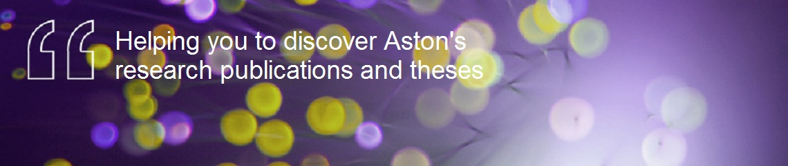 Aston Research Open banner